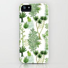 Green jungle pattern iPhone Case
