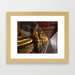 Golden Buddhas of Bangkok Framed Art Print