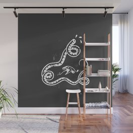 Crushed Serpent (white) Wall Mural