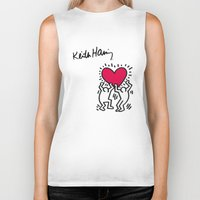 keith haring Biker Tanks featuring Keith Allen Haring Shirt by cvrcak