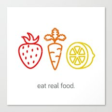 Eat Real Food. (light) Canvas Print
