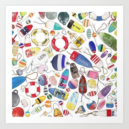 Buoy Collection Art Print