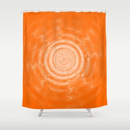 Ripples_Orange Shower Curtain