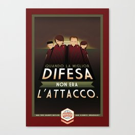 Poster Nostalgica - Difesa Milan Canvas Print