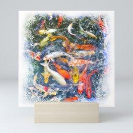 Koi Carp Splash Mini Art Print
