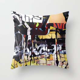 Abstract 50 #4 Throw Pillow