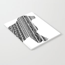 Mandala Heifer Cow Silhouette Notebook