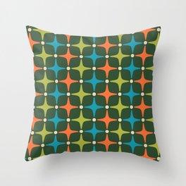 Mid Century Modern Star Pattern 934 Throw Pillow