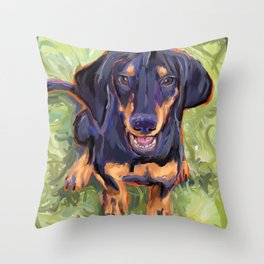 Coonhound Puppy Throw Pillow