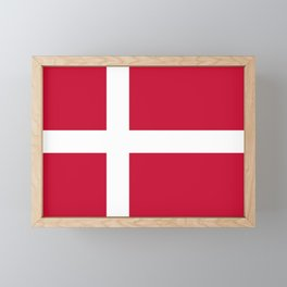 The flag of danmark Framed Mini Art Print