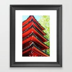 Red Pagoda Framed Art Print