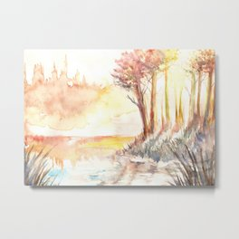 Watercolor Landscape 03 Metal Print