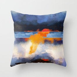 Dusk Reflection Throw Pillow