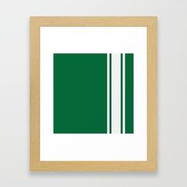 Green Racer Framed Art Print