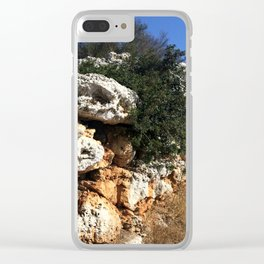 Ancient Rock Wall Clear iPhone Case