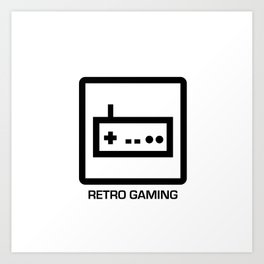 retro gaming Art Print