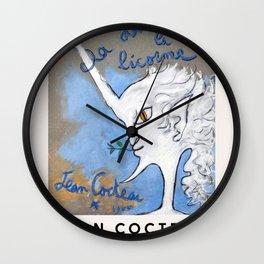 Jean Cocteau - La dame à la Licorne, Exhibition Poster, Vintage Wall Clock