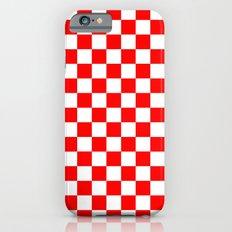 Checker (Red/White) iPhone 6s Slim Case