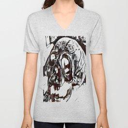 Metal Paper Skull Unisex V-Neck