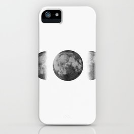 Phases of the moon - Scandinavian art iPhone Case
