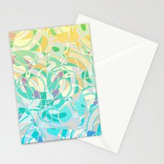 Summer Beach Days Abstract -  Yellows And Blues Stationery Cards