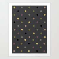 polka dots Art Prints featuring Polka Dots by Madison Hartquist