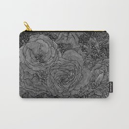 Circle Floral Line Drawing Carry-All Pouch