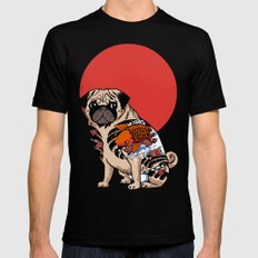 Yakuza Pug Mens Fitted Tee MEDIUM Black