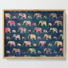 Colorful Elephants Serving Tray