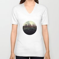 moss V-neck T-shirts featuring Moss by Richard George Davis