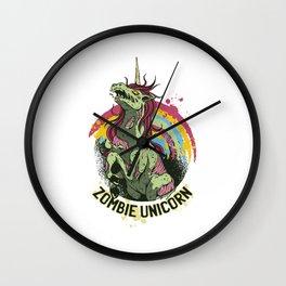 Zombie Unicorn Wall Clock