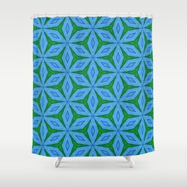 Cold Flowers Pattern Shower Curtain