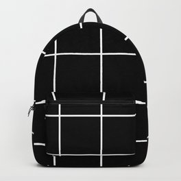 BLACK AND WHITE GRID Backpack