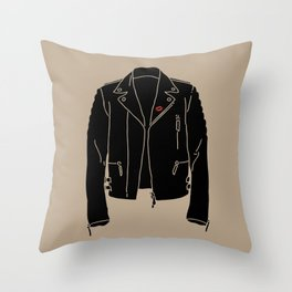 Leather Jacket - HANDSOME DEVIL'S CLUB (3/3) Throw Pillow