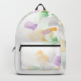 180713 Abstract Purple Yellow Decor 10| Watercolor Brush Strokes Backpack