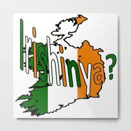 Irishinya St Paddys Day Fun Metal Print