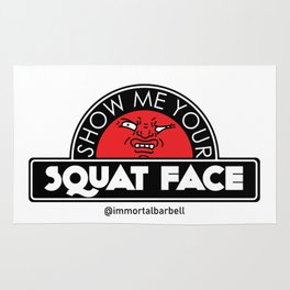 Show Me Your Squat Face Rug