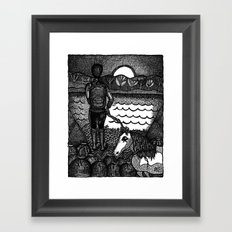 devil on your back Framed Art Print