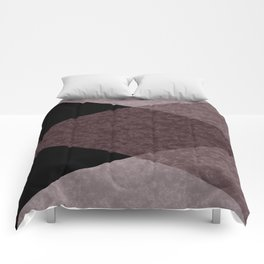 Black and brown marble Comforters