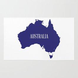 Australia Map Silhouette Rug