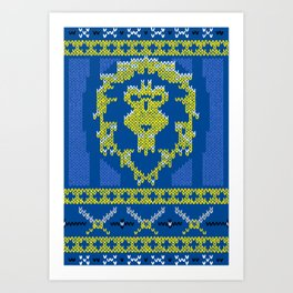 Ugly Sweater 1 Art Print