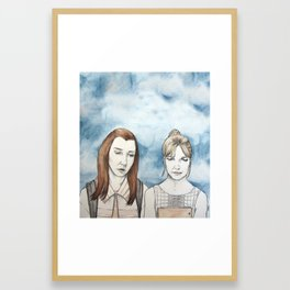 Willow and Buffy The Vampire Slayer Framed Art Print