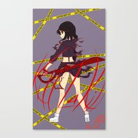 kill la kill Canvas Prints featuring Kill la Kill by Jojieon
