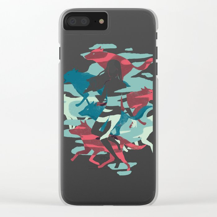 Wolves Clear iPhone Case