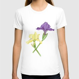 Watercolor irises T-shirt