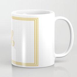 Monogram Letter H in Golden Yellow Coffee Mug