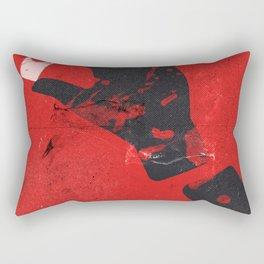 Michael C. Hall, Jennifer Carpenter, Julie Benz, crime tv series, minimalist poster, splatter art Rectangular Pillow