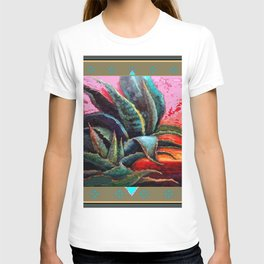 PUTTY COLOR ART DECO SOUTHWEST DESERT AGAVE T-shirt