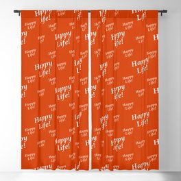 Motivational Happy Life Words Pattern Blackout Curtain