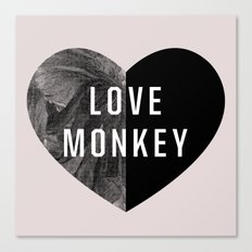 Love Monkey Canvas Print